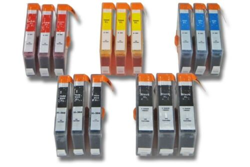 per HP Photosmart 7510 e-All-in-On Multipack con 15 cartucce per 3x C//M//Y//B//PB
