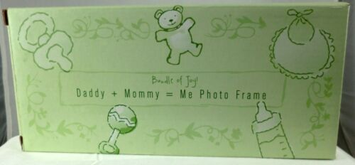 """Daddy Mommy = Me Photo Frame Ceramic Light Green 10/"""" X 10/"""" 1/"""" GREAT BABY GIFT"""