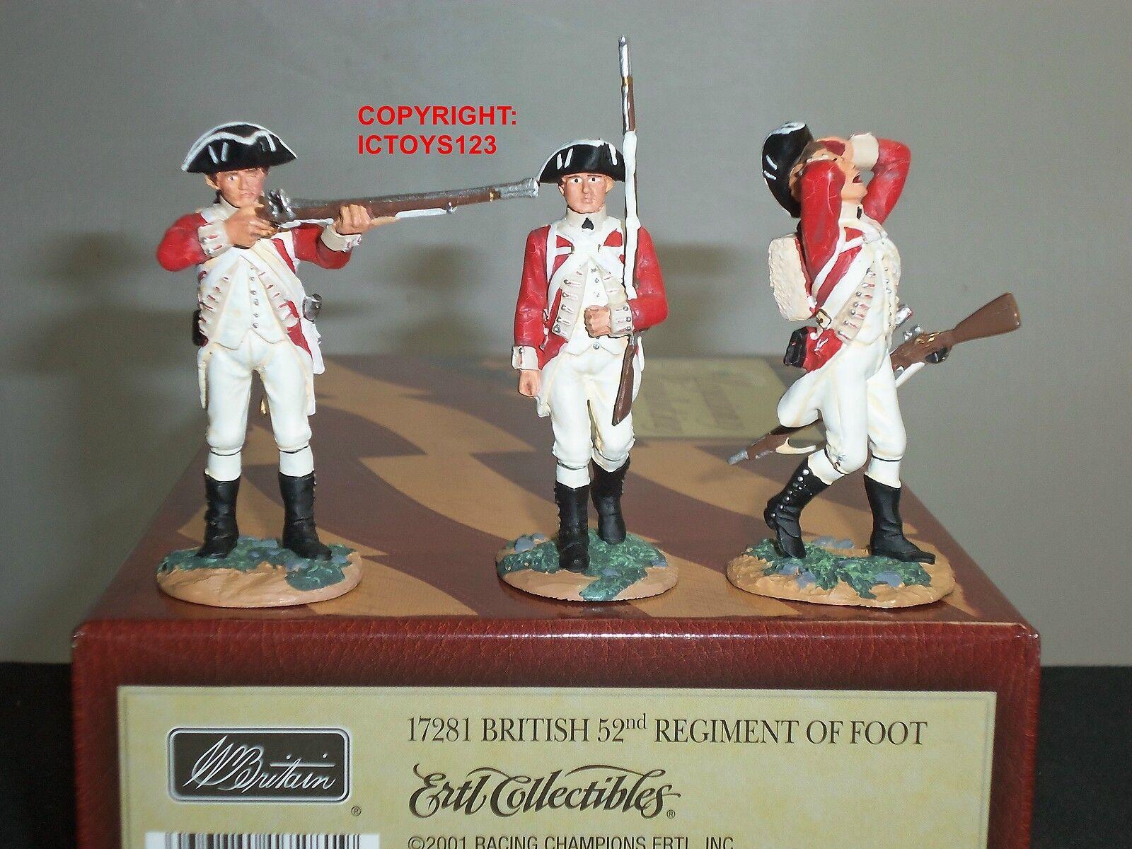BRITAINS 17281 AMERICAN REVOLUTION BRITISH 52ND REGIMENT OF FOOT TOY SOLDIER SET