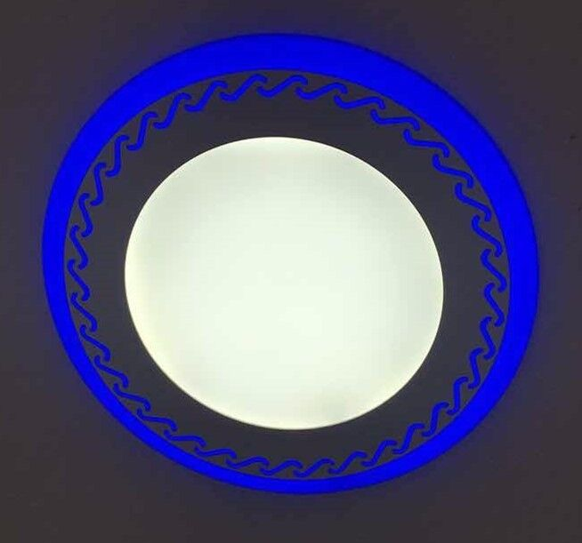 LED Downlight Round 6W 9W 16W 24W 3 Model LED Lamp Double Color Panel Light two Color Ceiling Recess