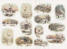Papel De Arroz Para Decoupage Decopatch Scrapbook Craft Hoja Vintage Invierno Cottage