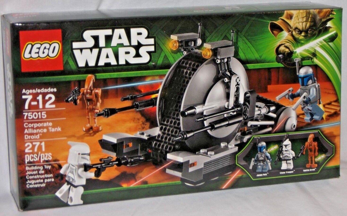 SEALED 75015 LEGO Star Wars CORPORATE ALLIANCE TANK DROID Jango Fett Clone 271pc