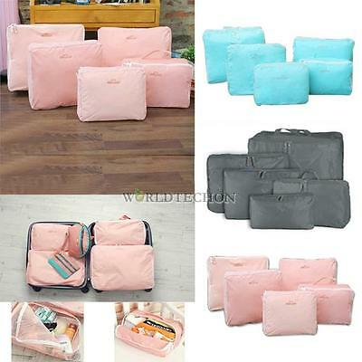 5 Pieces Travel Storage Bags Waterproof Clothes Packing Cube Luggage Organizer