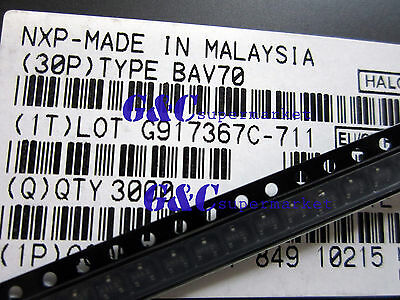 100PCS BAV70 NXP SOT-23 DIODE ARRAY 100V 175MA NEW GOOD QUALITY R3