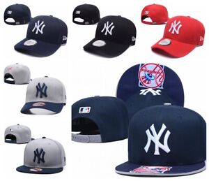 New MLB Baseball Cap Flat Bill Snapback Hats - Unisex