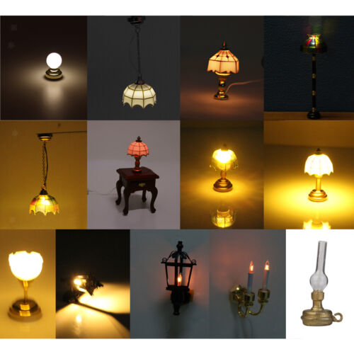 1:12 Dollhouse Miniatures Ceiling LED Light Lighting Lamp with Battery