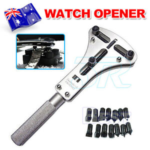 Repair Tools & Kits Watch Repair Tool Kit Watchmaker Back Case Opener Wrench Cover Remover Adjustable Watch Back Case Wrench Opener Repair Screw