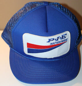 PIE Nationwide Blue Cap Hat Vintage Snapback w Patch 1Size Fits All Adjustable