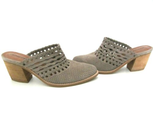 Jeffrey Campbell Favela Taupe Suede Perforated Mul