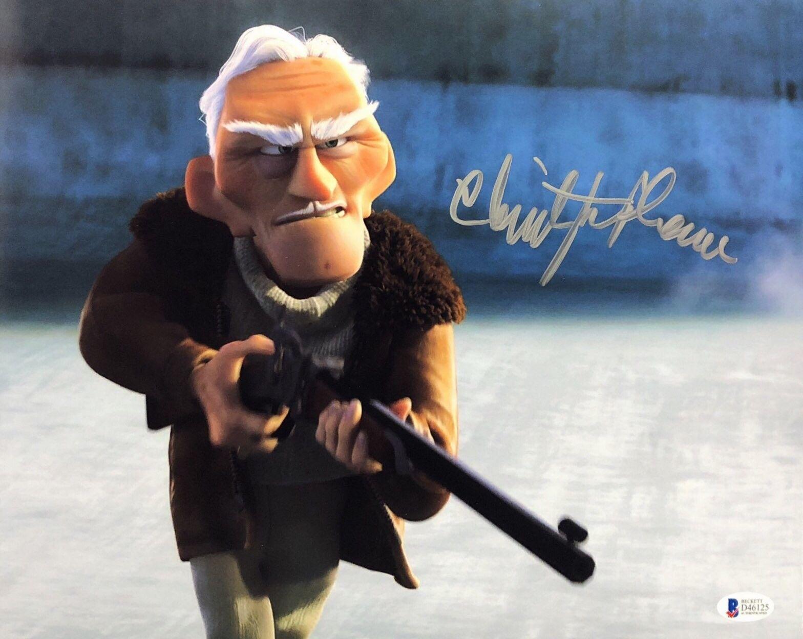 Christopher Plummer Signed Disney's 'Up' 11x14 Photo BAS Beckett D46125