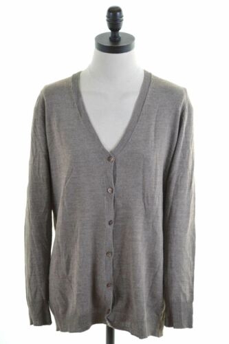 Large Size Brown Hi03 Sweater Womens Cardigan 14 Benetton YXRxtZq8Yw