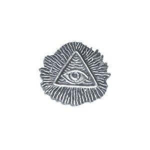 All Seeing Eye Pewter Lapel Pin Badge/Brooch Illuminati Conspiracy Steampunk Mas