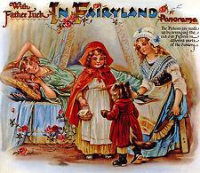 Märchenland Panorama Spielbilderbuch mit Spielfiguren Reprint Raphael Tuck 19.Jh