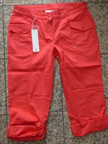 NUOVO 40 a 58 ROSSO Sheego Donna Pantaloni Tessuto Pantaloni krempelbar su 7//8 tg 415