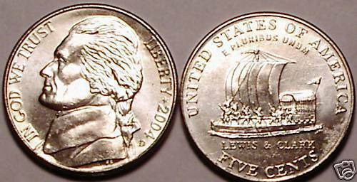 2004-D BRILLIANT UNC KEELBOAT NICKEL~FREE SHIPPING~NICE