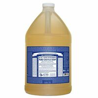 Dr. Bronners Fair Trade & Organic Castile Liquid Soap Peppermint 1 Gallon