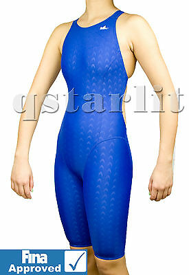 FINA Approved Girls Women Racing Competition Kneesuit Kneeskin Swimwear 24-36