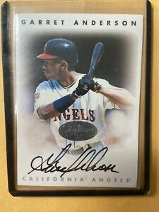 Garret Anderson 1996 Leaf Signature Series Silver Auto Card Angels