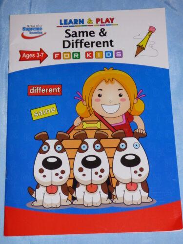 Les enfants apprennent /& Play Livre Âge 3-7 chiffres alphabet lecture écriture formes mathématiques