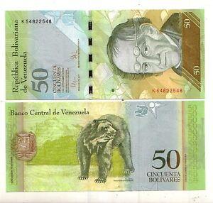 Venezuela-50-bolivares-2009-FDS-UNC-Pick-92d-lotto-4012