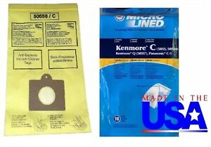 10-Sears-Kenmore-Vacuum-Cleaner-Bags-5055-50557-50558-C-Canister-MADE-IN-USA
