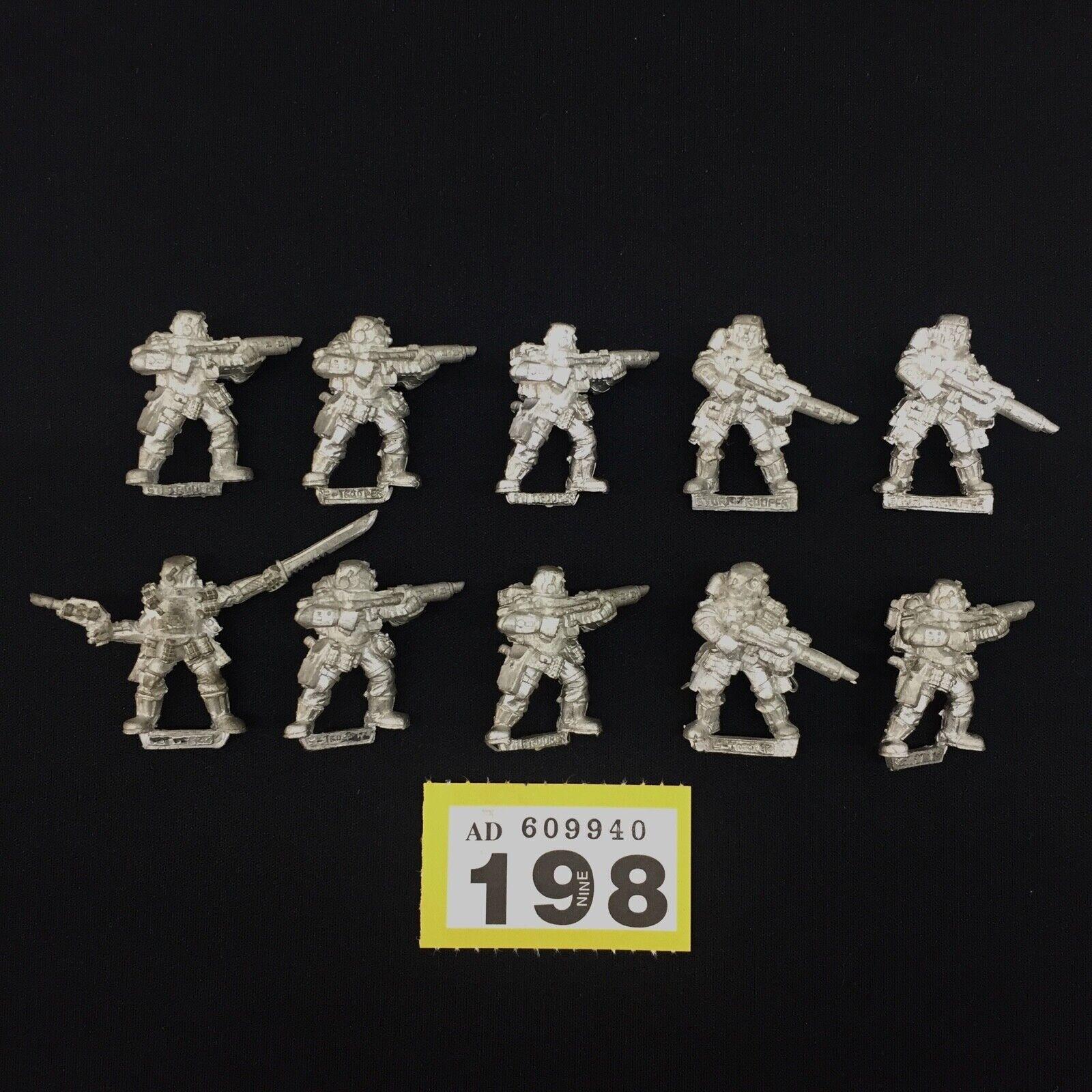 Warhammer 40,000 garde impériale  Inquisition StormTroopers metal Épuisé x 10  forme unique