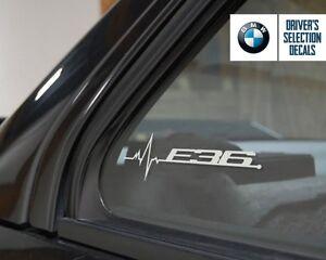 BMW E36 is in my Blood window sticker decals graphic