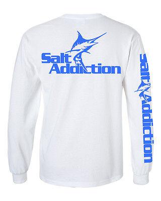 Salt Addiction Saltwater fishing t shirt,Tuna fishing,reel,deep sea,flats,life