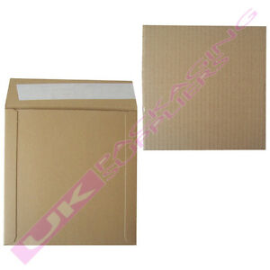 10-BROWN-7-034-RECORD-VINYL-MAILERS-10-STIFFENER-PADS-FREE-FRAGILE-LABELS