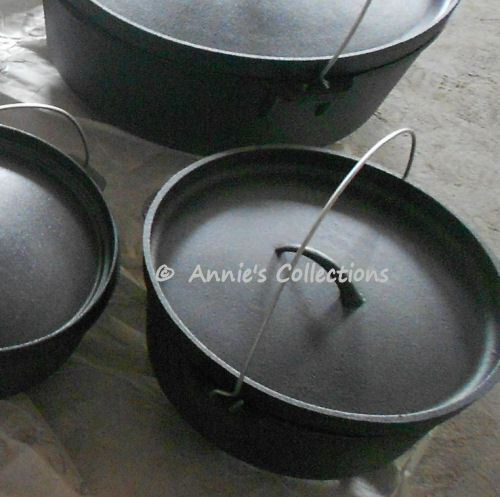 Cast iron Dutch Oven 10 QT Camping Cookware Wilderness Survival