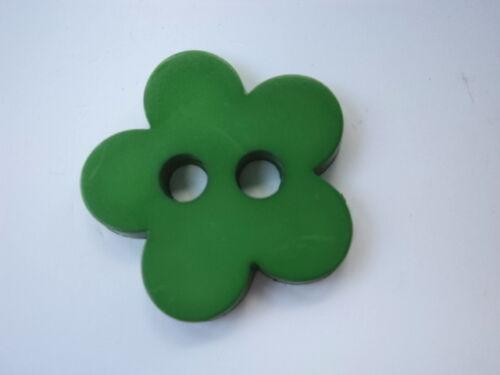 B511-26mm 4pcs Elige Tu Color! Plana Grande Mate Flor de botones plásticos