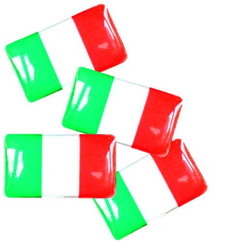 Italian Flag x4 Dust Caps /& Stickers Italy Logo Valve Badges Fiat 500 Alfa Romeo