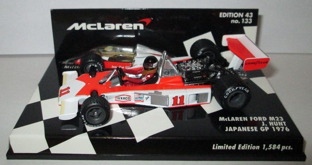 F1 1 43 mclaren m23 ford hunt japanese gp world champion 1976 minichamps