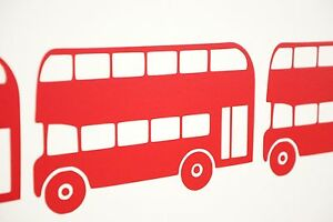 various colours and sizes London Bus Wall Art Vinyl Decals Stickers