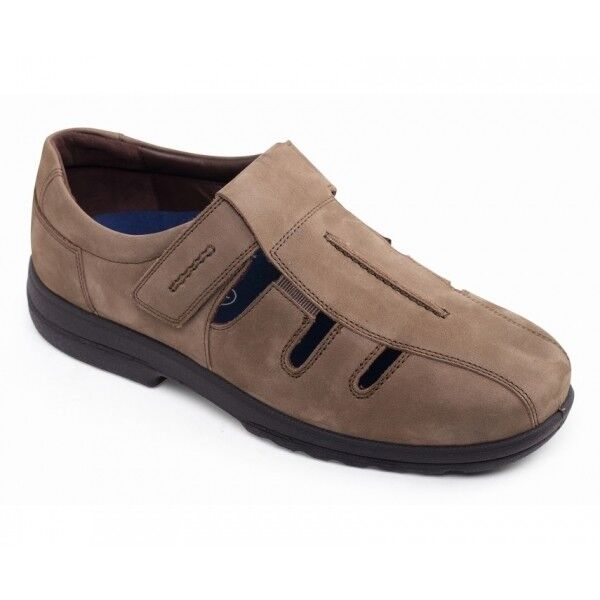 Padders DAWLISH Mens Genuine Leather Wide H K Touch Close Summer shoes Tobacco