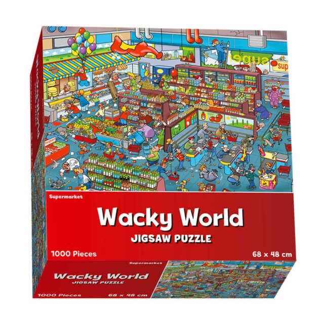 NEW Wacky Wild World 1000 Piece Jigsaw Puzzle Kids Family Fun Supermarket Design
