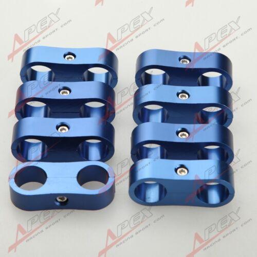 8PCS 12AN AN12 AN-12 12AN 24mm Billet Fuel Hose Separator Fittings Adapter Blue
