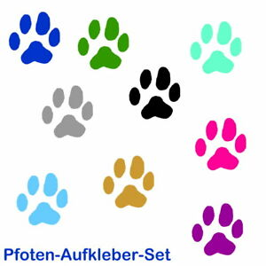 Pfotenaufkleber Hundepfoten Tierpfoten Wandtattoo Auto Sticker