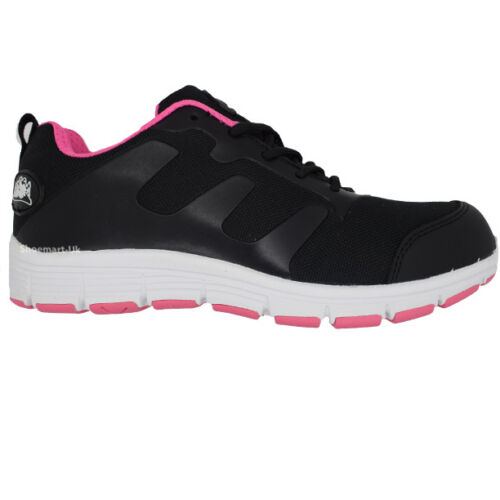 LADIES GROUNDWORK STEEL TOE CAP TRAINERS SAFETY WOMENS LACE UP WORK SHOE BOOTS!!