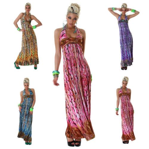 Neckholder-Maxikleid lang Tanz /& Party Kleid Dress Latina Sommer Größe 34 36 38