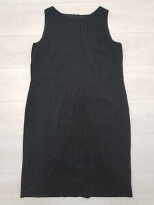 Damen WINDSMOOR Workwear Etuikleid Gr 16 schwarz Nadelstreifen gefüttert ärmellos