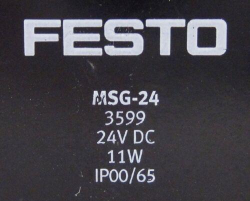 Festo MC-2-1//8 Solenoid Valve w// MSG-24 Solenoid Coil