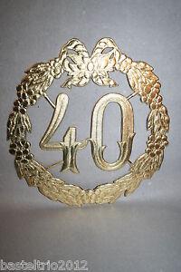 Details About Jubiläumszahl 40 Gold Diamant Hochzeit Türdeko Krepprosen Türkranz Jubiläum