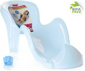 mint blue newborn hands free baby bath support seat non slip suction cups unisex ebay. Black Bedroom Furniture Sets. Home Design Ideas
