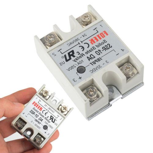 24V-380V 10A 250V SSR-10 DA Solid Bundesland Relay Modul 3-32V DC AC BAF