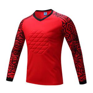 Men/'s Soccer Football Goal Keeper Shirts Protective Clothes Long T-shirt