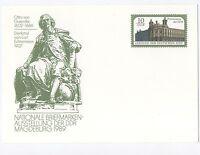 """alte DDR Ersttagspostkarte """"Nat. Briefmarkenausstellung Magdeburg 1989"""" / Neu !"""