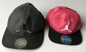 Jordan-Jumpman-Hat-Youth-Black-Kids-Pink-Lot-Of-Two
