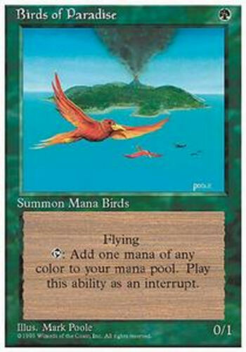 MRM FRENCH Oiseaux de paradis Birds of paradise MTG magic 3-4th edition