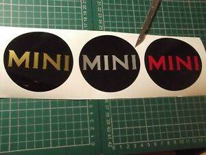 BMW MINI Wheel Centre WHEEL CAP BODY PANEL Stickers  Cooper set of 5 pieces